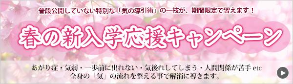 春の新入学応募キャンペーン